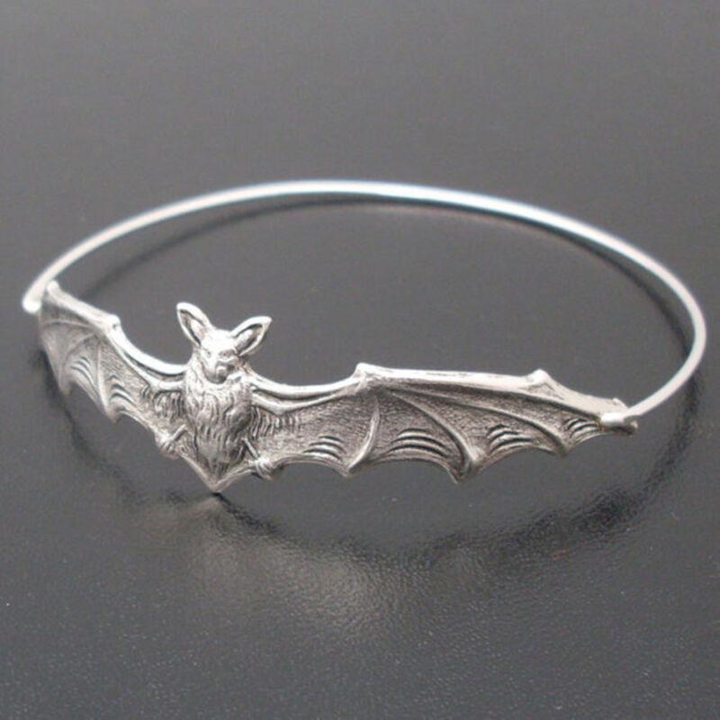 Hot Fashion Halloween Women Bat Bangle Bracelet Wristband Jewelry Beautiful DIY 2