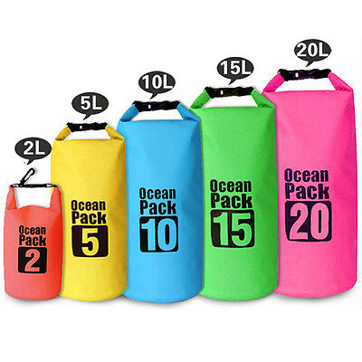 Outdoor Waterproof Canoe Swimming Camping Hiking Backpack Dry Bag Pouch 6Colors 2