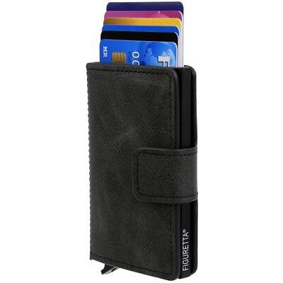 FIGURETTA Damen Herren Kartenetui EC Scheckkarten Kreditkarten Etui Aluminium