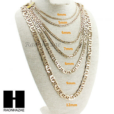 1026e89d1d5 14K GOLD PLATED GUCCI LINK MARINA NECKLACE CHAIN (4-12mm)w  (8