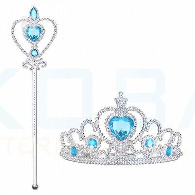 Vicloon Ice Princess Elsa Accessories Set  Tiara Crown and Magic Wand Girls Gift 12