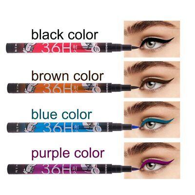 eyeliner feutre précision 36 H waterproof longue tenue noir violet bleu marron 2