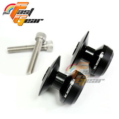 Twall Protector Black Swingarm Spools Sliders Fit Kawasaki ZX-6R 636 2013-2018