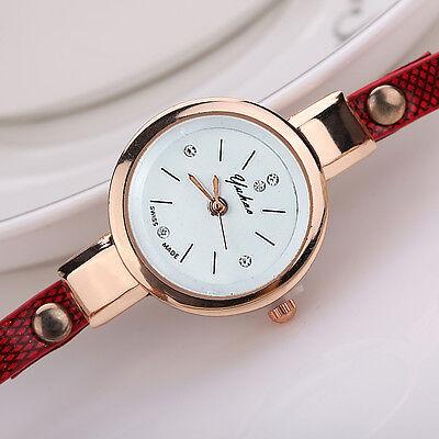 2016 Mode Femmes Montre Femmes acier inoxydable bracelet en cuir poignet montres 9