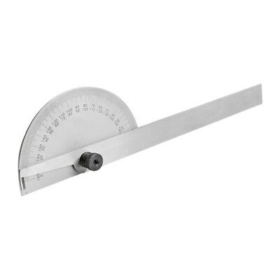 0-180 Degree Stainless Steel Round Head Protractor Measure Ruler Angle Gauge 3