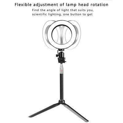 Ring Light LED Studio Photo Video Dimmable Lamp With Tripod Stand Selfie Stick 6