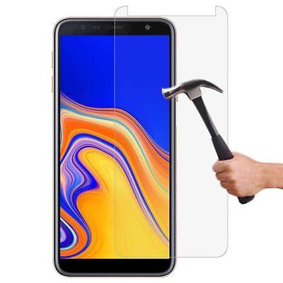 Vitre Protection Film Verre trempé Pour Samsung J6 2018 J6 Plus+ Coque Silicone 3
