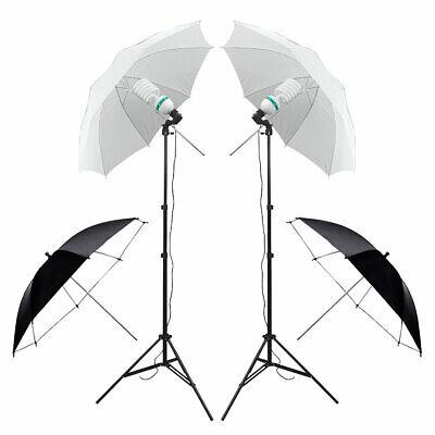 Photography Studio Backdrop Soft Umbrella Lighting Kit +Background Support Stand 3