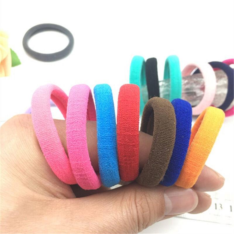 50Pcs Women Girls Hair Band Ties Rope Ring Elastic Hairband Ponytail Holder New 10