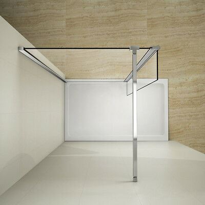 Walk In Shower With Flipper Panel.Quality Wet Room Shower Screen Enclosure Flipper Panel 8mm