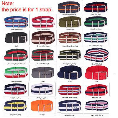 16mm Nylon Stripes Cambo Watch Strap Wristwatch Bands Buckle Watchband Female 2