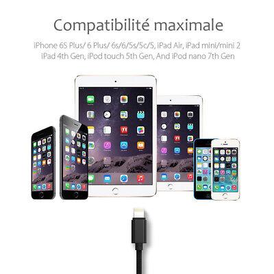 LOT3 CABLE USB CHARGEUR POUR IPHONE X 8 7 6S 6 PLUS 5 SE XR XS MAX Rapide 2Mètre 9