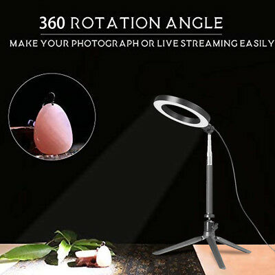 Ring Light LED Studio Photo Video Dimmable Lamp With Tripod Stand Selfie Stick 4