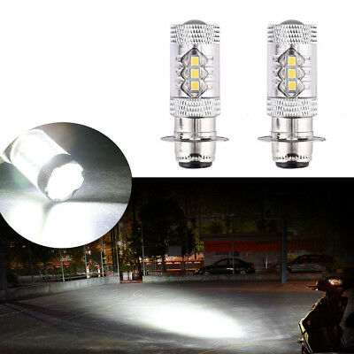2Pcs H6M 80W Cree LED Bright White Headlights Upgrade Bulbs Lamp For Yamaha