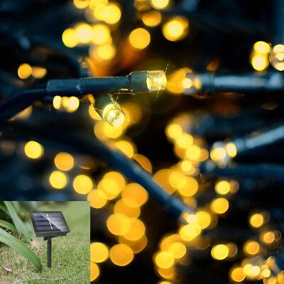 22M 200 LED Solar Power Fairy Lights String Garden Outdoor Party Wedding Xmas UK 11
