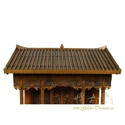 19 Century Antique Chinese Wooden Carved Altar/Buddha House/Shrine 2
