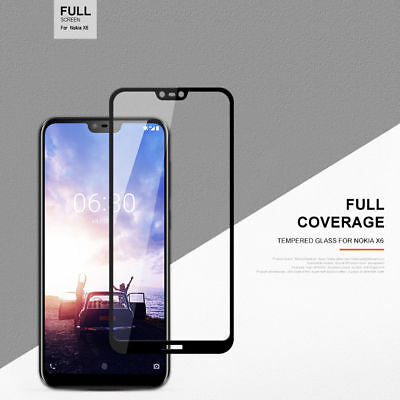 Full Coverage Tempered Glass Screen Protector For Nokia 1 3.1 5 X6 6.1 7 Plus 8 3