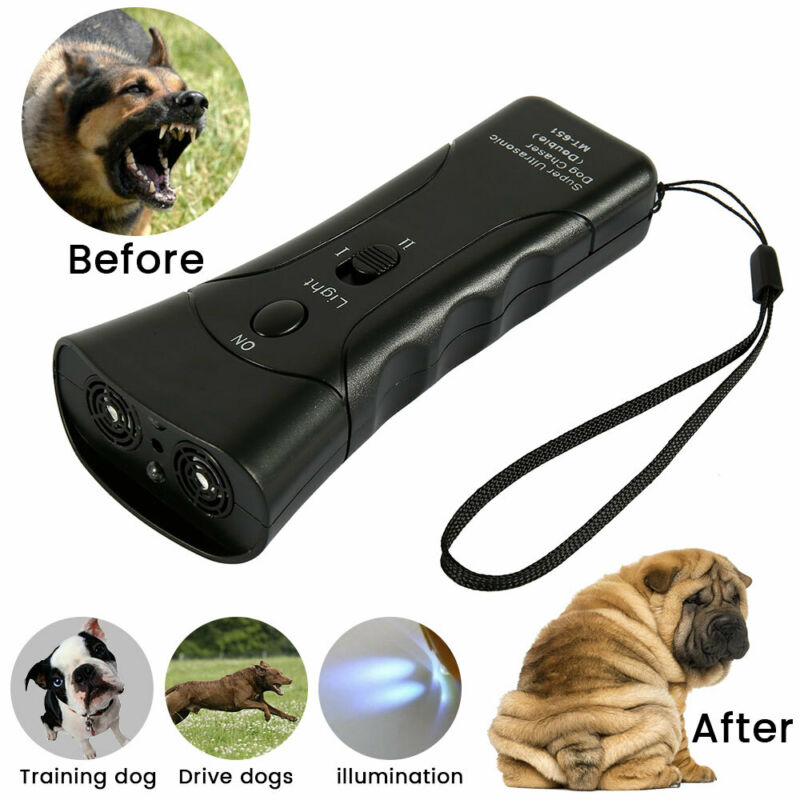 US Ultrasonic Anti Dog Barking  Trainer LED Light Gentle Chaser Petgentle Sonic 4