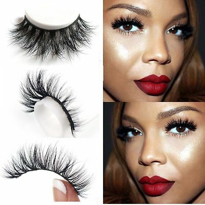 2aa0f2a7ebd ... Lilly Miami 3D Full Strip Lashes 100% Real Mink Strip Eyelashes 3D Mink  BW 2