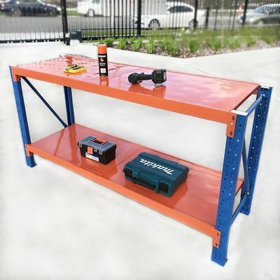 Steel Warehouse Workbench Shelving Racking Stand Shelf Garage Racks Work Benches