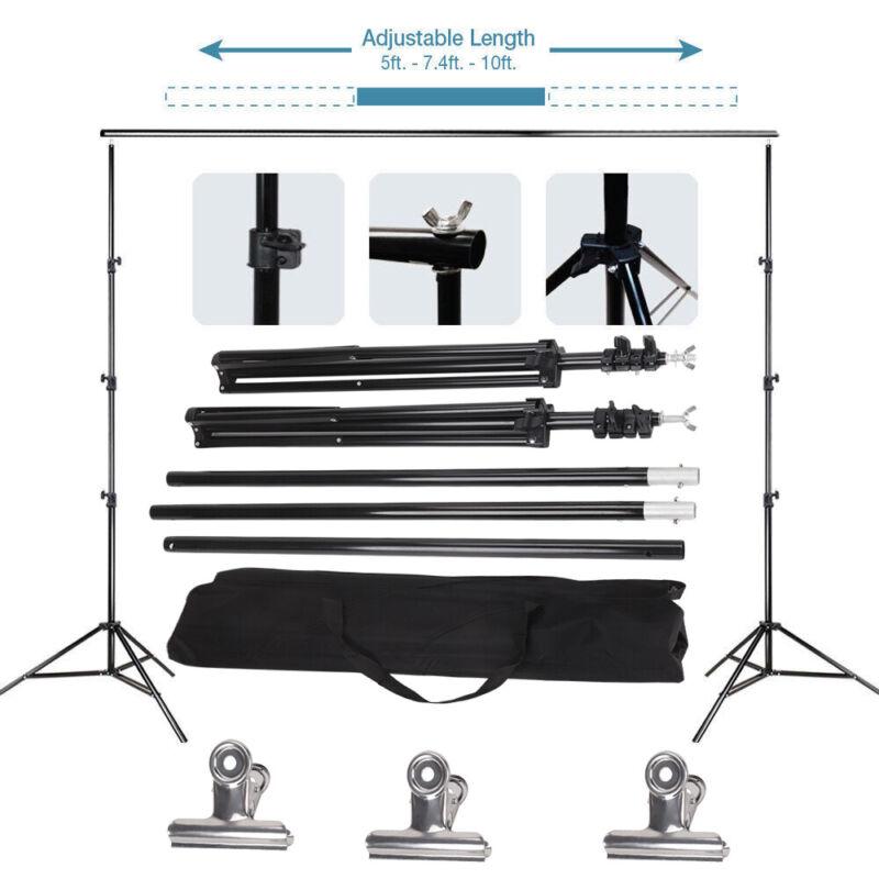 3x2m Fotostudio Hintergrundsystem Teleskop Hintergrund Stativ Set Mit Tasche DE 6