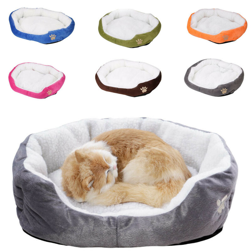 Deluxe Warm Soft Washable Dog Cat Pet Warm Basket Bed Cushion with Fleece Lining 6
