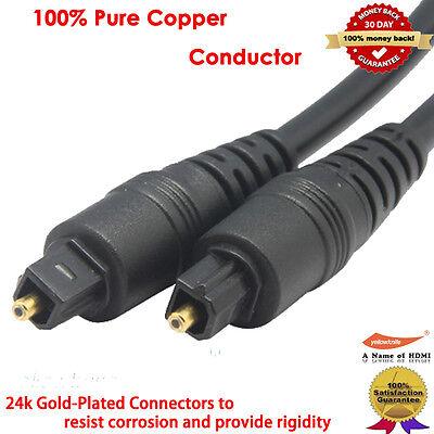 1M Digital Optical Fiber Optic Toslink Audio Cable+1x2 Toslink Splitter HDTV PS3