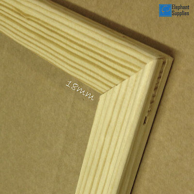 Canvas Stretcher Bars, Canvas Frames, Pine Wood 18mm & 38mm Thick - Sold By Pair 3