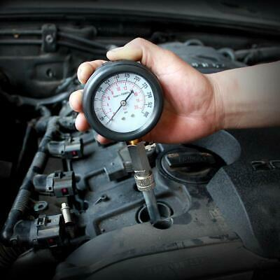 Compresimetro Gasolina 8 Pzas Medidor De Compresion Con Adaptadores + Linterna 11
