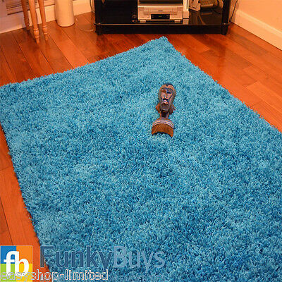 Small Large XL Size Thick Plain Soft Shaggy Rugs Non Shed Modern High Pile 12