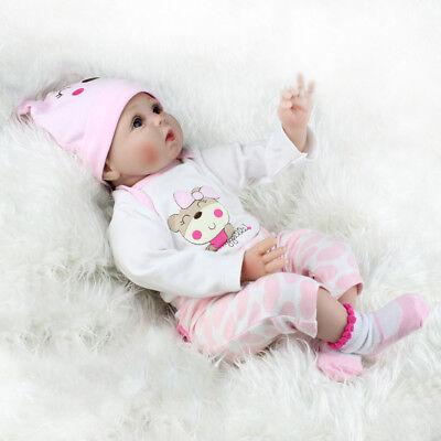 22'' Realistic Newborn Girl Silicone Vinyl Reborn Baby Dolls Handmade Xmas Gift 9