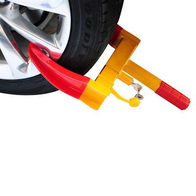 2X Heavy Duty Wheel Clamp Anti Theft Lock Caravan Trailer Security With Keys Chn 2