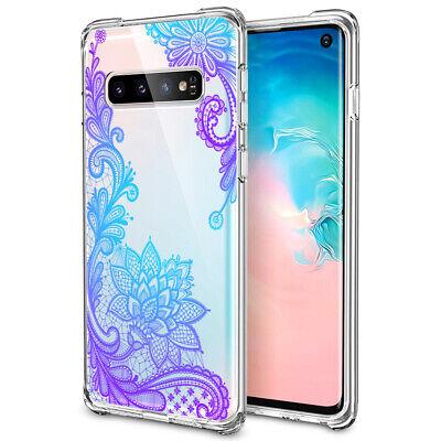 Galaxy Note 10 Plus 10+ S10e S10+ Case Mandala Lace Clear Bumper Cover F Samsung 5