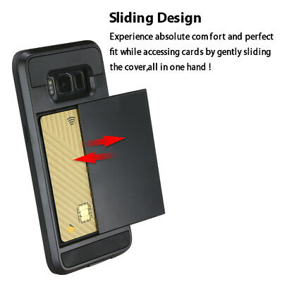Slide Armor Shockproof Case Cover for Samsung Galaxy S9 Note 9 8 S7 edge S8 Plus 4
