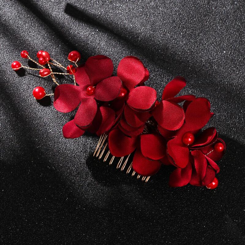 Bridal Wedding Fashion Pearls Flower Hair Barrette Clip Hairpin Accessories Gift 11
