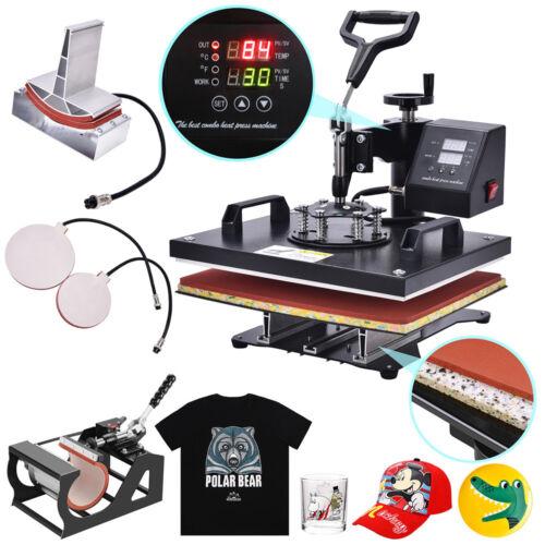 5 In 1 Digital Heat Press Machine Sublimation forT-Shirt /Mug/Plate Hat Printer 4