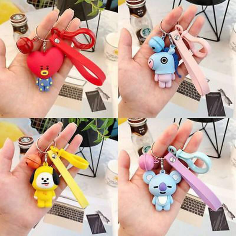 Kpop BTS BT21 Cartoon Acrylic Keychain Bag Pendant Keyring TATA COOKY MANG 2