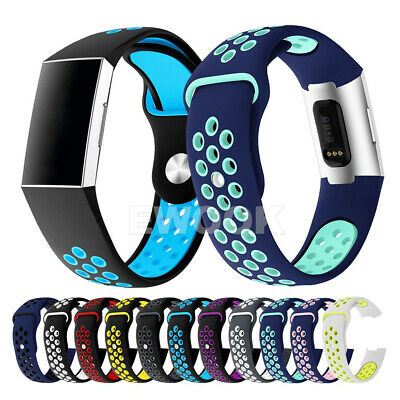 For Fitbit Charge 3 Bands Soft Silicone Adjustable Replacement Sport Strap Band 10
