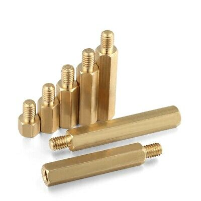 Brass Male-Female Threaded Hex Standoffs Spacers M2.5 x (3mm-30mm)+6mm 2