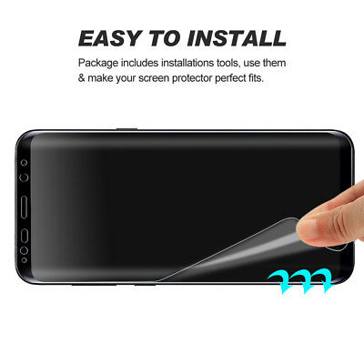 3x Galaxy S8 S8 Plus Flex Full Coverage Soft TPU Screen Protector For Samsung 5