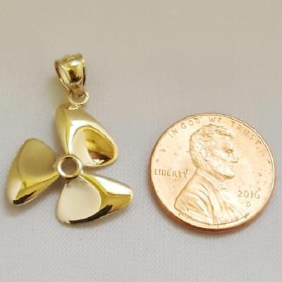 14k or Jaune Squid Pendentif//Charme made in USA