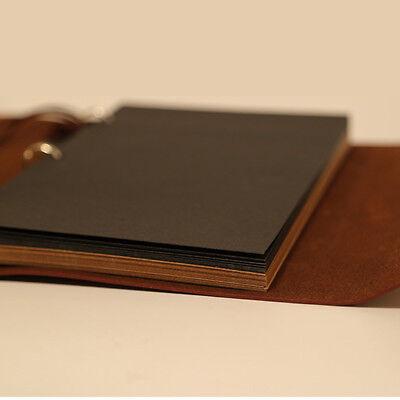 Vintage Self Adhesive Leather Photo Album large vintage Birthday/Aniversary Gift 5