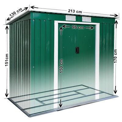 fondazione 214x130 n Box casetta metallo per giardino serra attrezzi capannone