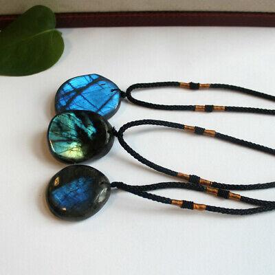 Delicate Natural Labradorite Pendant Crystal Necklace Healing Stone Necklace 6