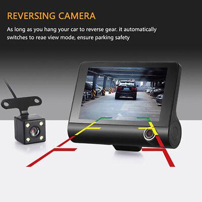 "1080P 4""Car DVR Dual Lens Dash Cam Front and G-sensor Rear Video Recorder Camera 3"