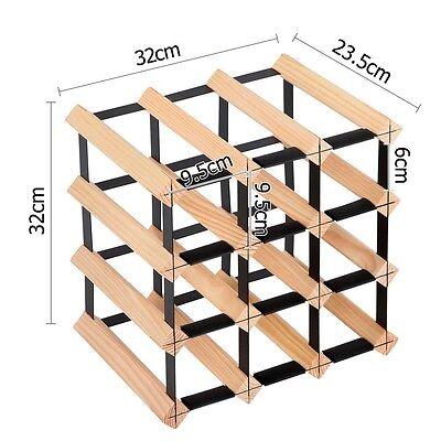 Timber Wooden Wine Rack 12 Bottles Organiser Storage Holder Stand Cellar Bar