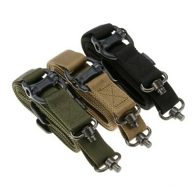 "Retro Tactical Quick Detach QD 1 2Point Multi Mission 1.2"" Rifle Sling Adjust US 2"