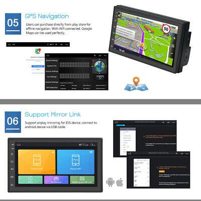 """7 """"Android 8.1 AUTORADIO con navegación GPS NAVI BLUETOOTH WIFI DOBLE 2 DIN MP3 9"""