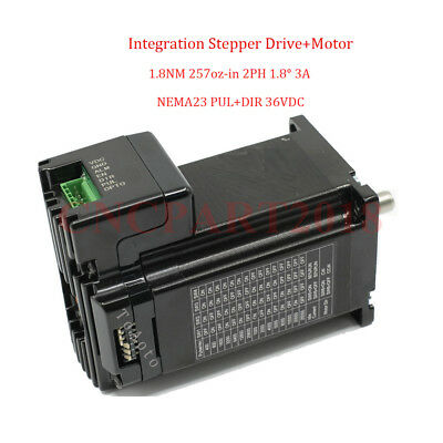 Integrated 2 in 1 Nema23 Stepper Motor L76mm 3A 1.8Nm Shaft 8mm for CNC Router 2