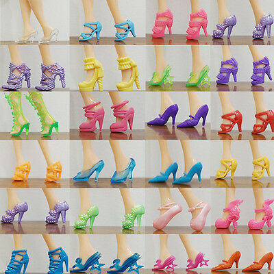 80pcs 40 Pairs Different High Heel Shoes Boots For Doll Dresses Clothes 3